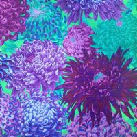 Kaffe Fassett Japanese Chrysanthemum Purple - Per Quarter Metre.